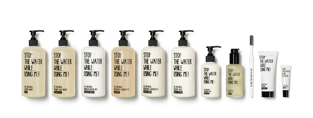 schoenes Produktdesign von Stop the water while using me
