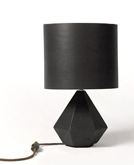 Beton Diamant Lampe von Nuts and Woods