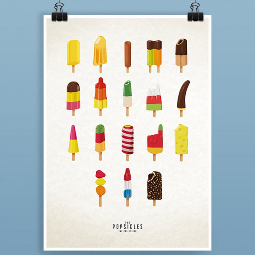 Print Illustration the popsicles vonJulia Marquardt