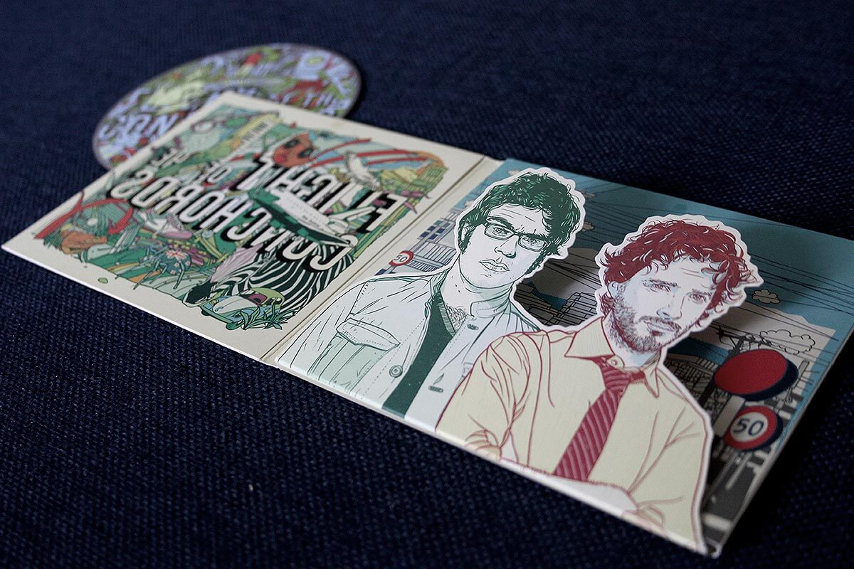 Das Inlay von Flight of the Conchords zeigt tolles Design