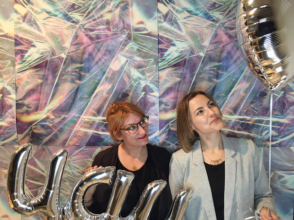 Julia Depis und Judith Trifonoff bei den Germn Press Days Berlin