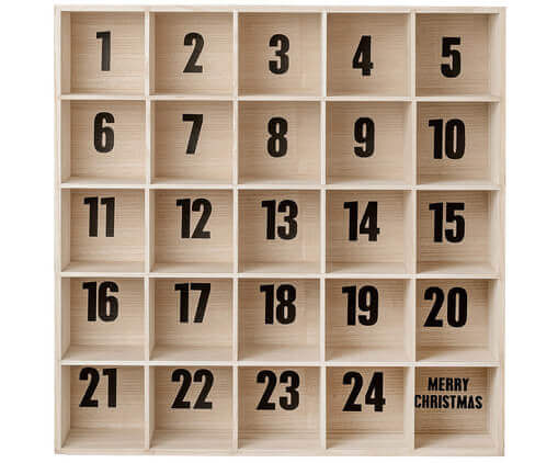 Bloomingville Adventskalender in der Christmas Holzbox
