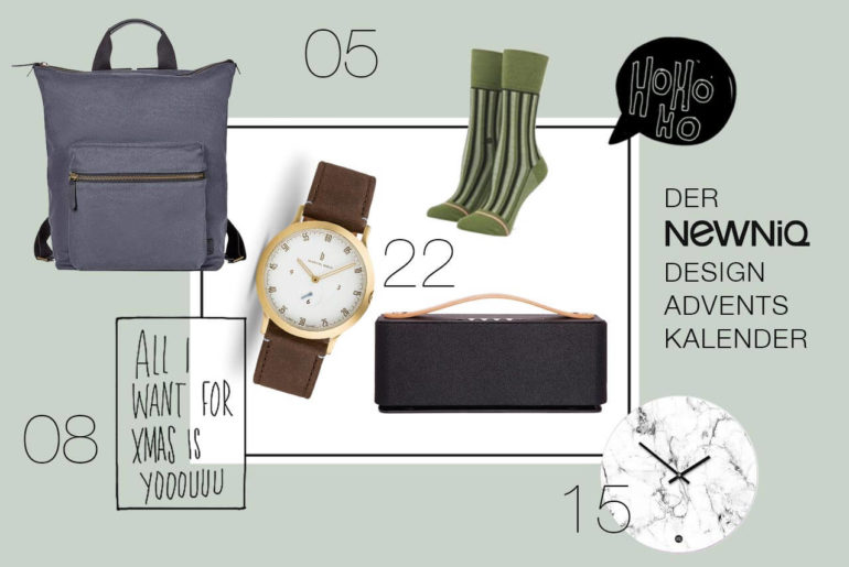 Der Newniq Design Adventskalender mit Fashion, Beauty und Design