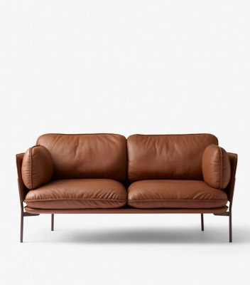 Skandinavisches Design mit der andtradition Leder Couch