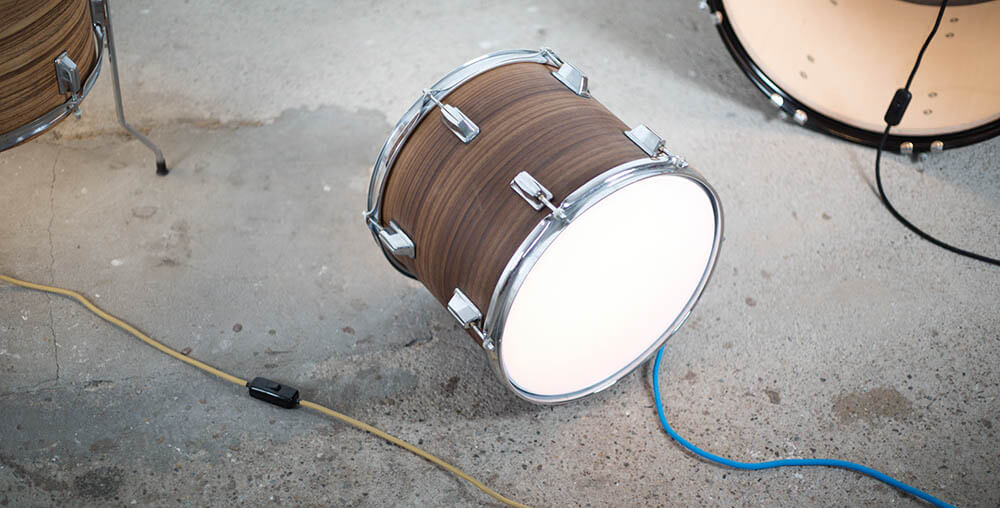 Designerlampe Drum Lights ist auch Upcycling Moebeldesign