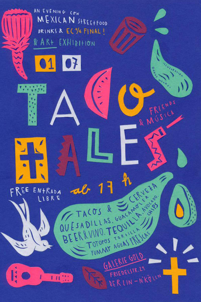 TacoTales Flyer von Illustratorin anne Wenkel