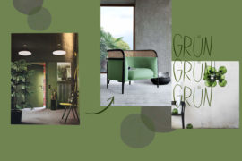 Gruenes Interior als Inspiration in Ton-in-Ton