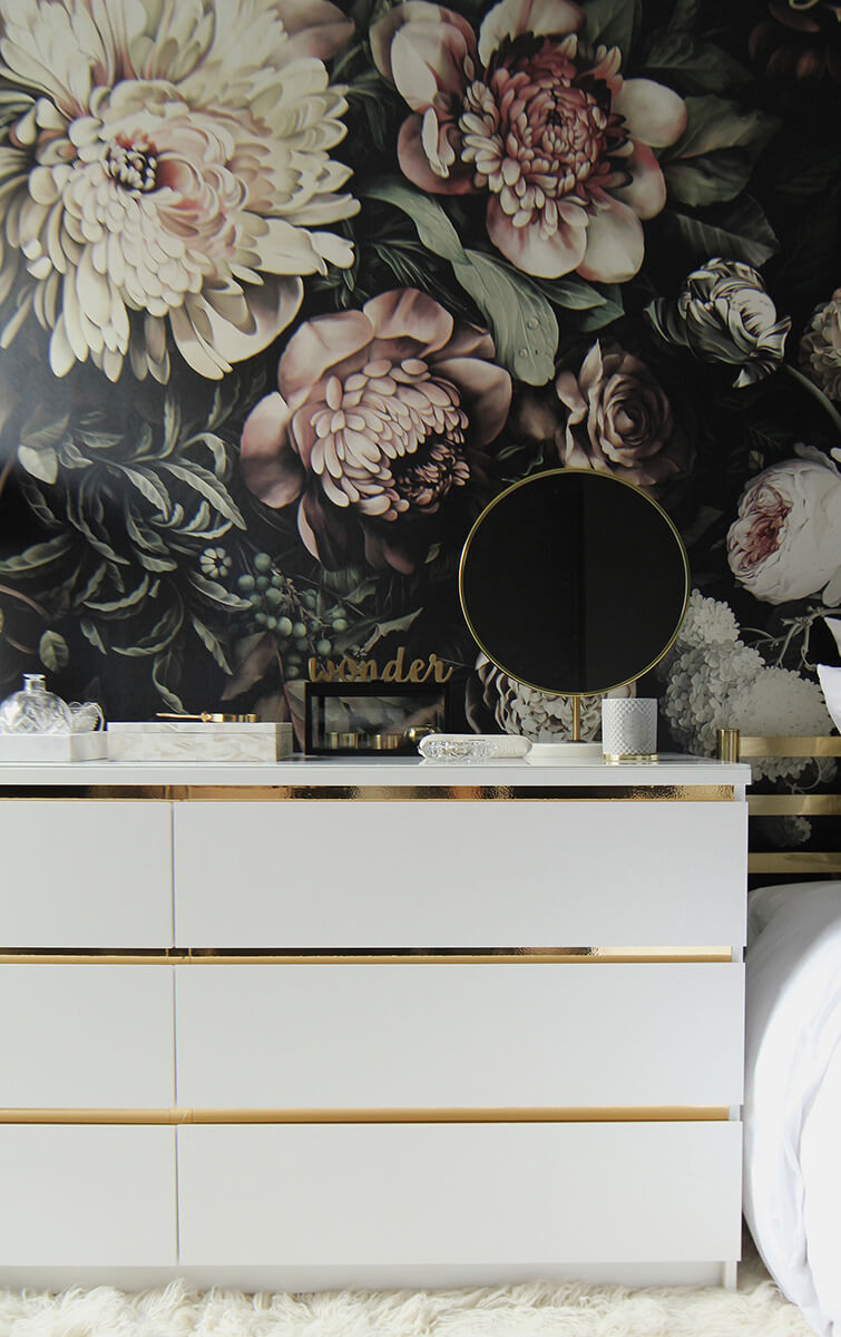 DIY Ikea Hack mit Malm Kommode in Gold