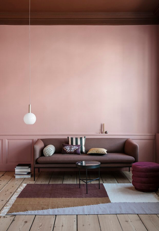 Raumgestaltung in Rose bei ferm living