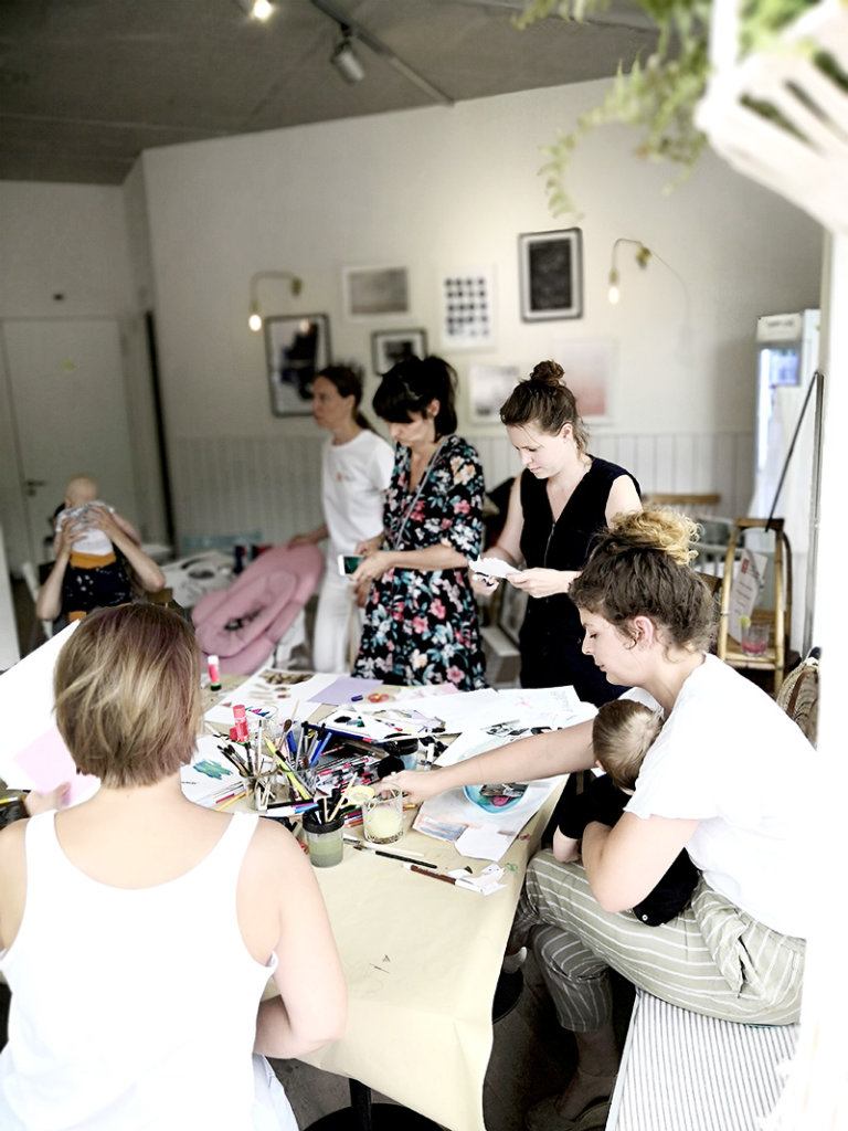 Illu Workshop von Julia Depis im Stokke Summer House