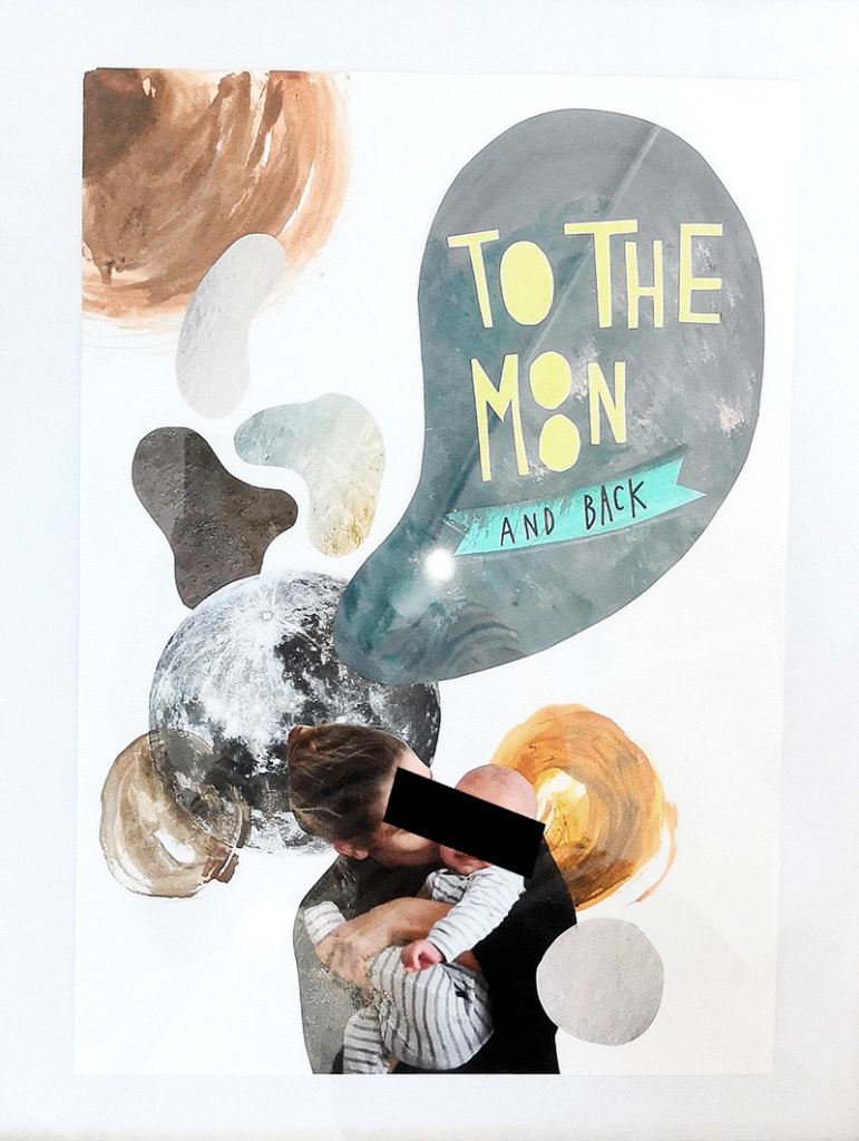 To the Moon and back Illustration fuers baby
