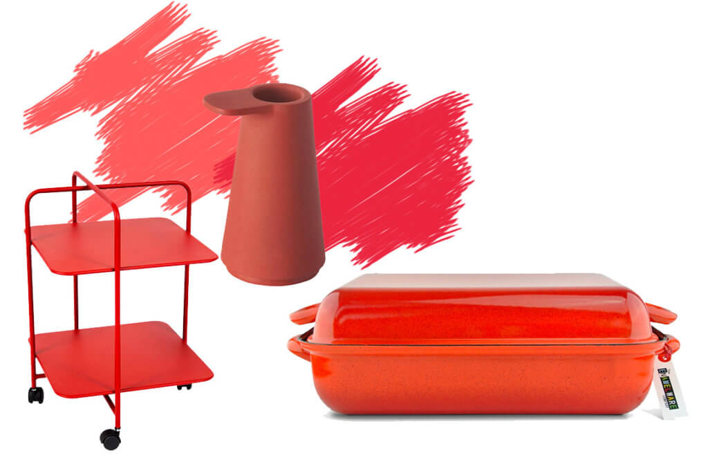 Ton in Ton Farbtrends in Living Coral Koralle