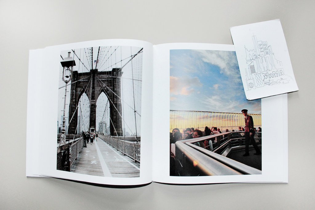 Brooklyn Bridge zwischen Manhattan und Brooklyn im once upon Fotobuch