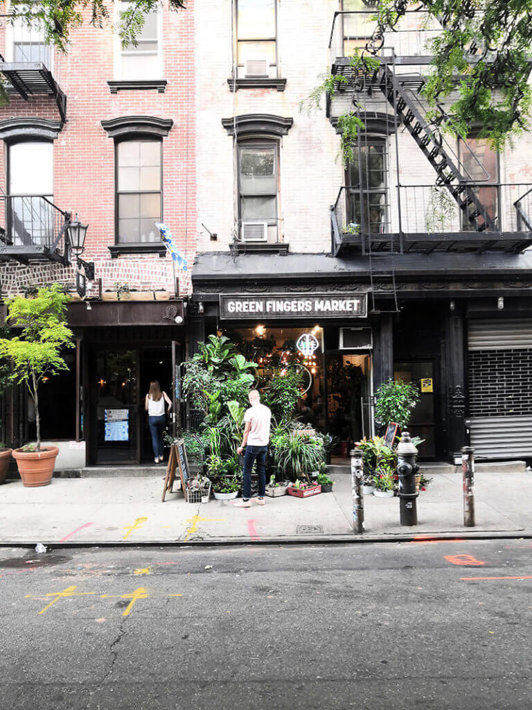 Blumenladen Green Fingers Market in Soho als New York Highlight