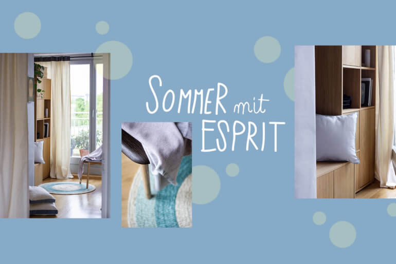 "Textilien & Tapete: Die neue Summer Collection von Esprit Home ""Cool Noon"""