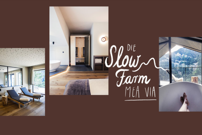 Das Slow Farm Hotel mea Via in den Dolomiten in Suedtirol